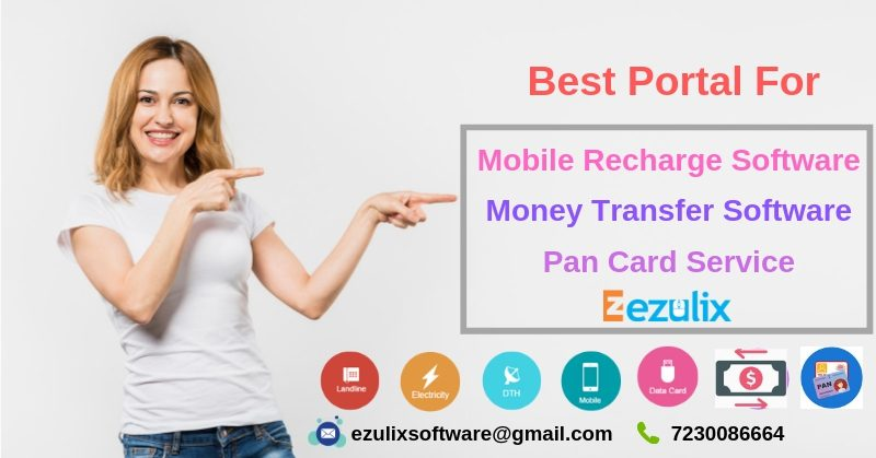 Software for Money Transfer, Pan Card & Mobile Recharge with Free App